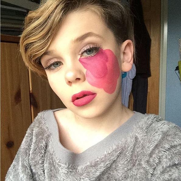 Чудо од дете: Погледнете го ова 10-годишно момче со извонреден талент за шминкање!