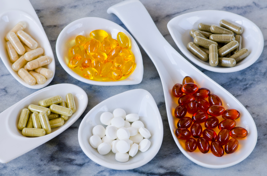 Variety of nutritional supplements.