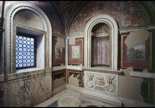 Stufetta del Cardinale Bibbiena (Bathroom of Cardinal Bibbiena).
