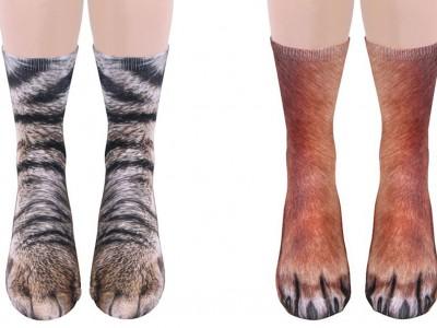 Овие чорапи со реалистичен дизајн ќе ги трансформираат вашите стапала во животински шепи