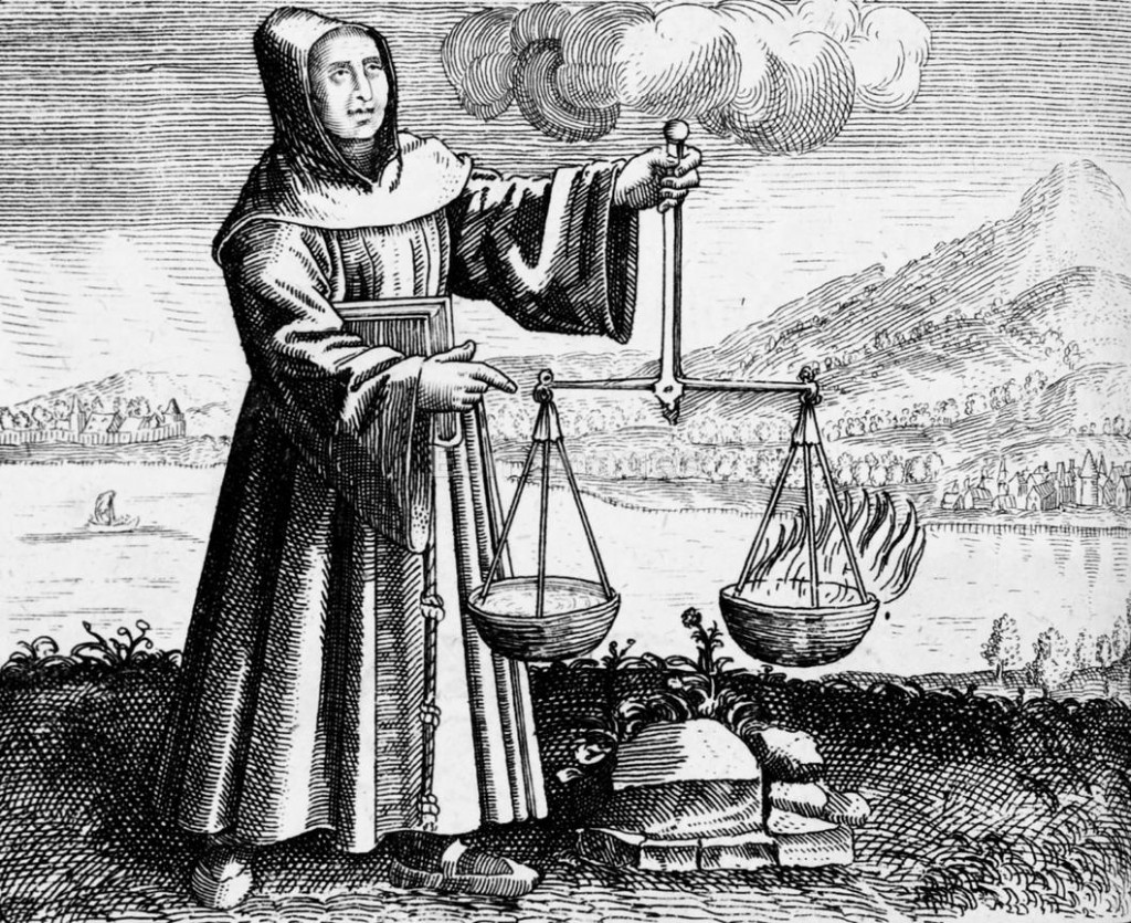 Roger Bacon conducts experiment