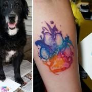 Сакате тетоважи и чувате куче? Зошто да не го истетовирате отпечатокот од неговата шепа?