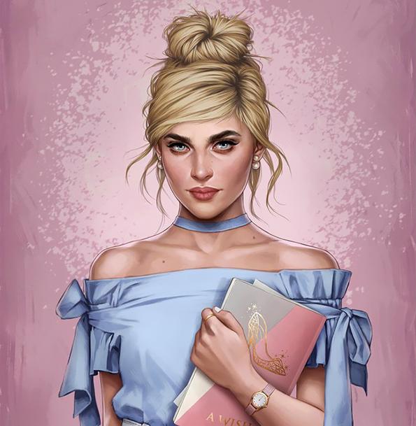 Неверојатни илустрации: Како би изгледале принцезите од Дизни кога би живееле во 2017 година?