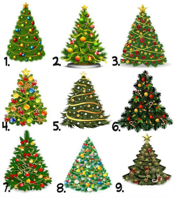 New Year's Eve Test: Choose the tree that you like most and find out what year you are expecting