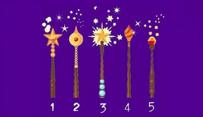 Одберете го волшебното стапче што најмногу ви се допаѓа и дознајте ги тајните на вашиот карактер