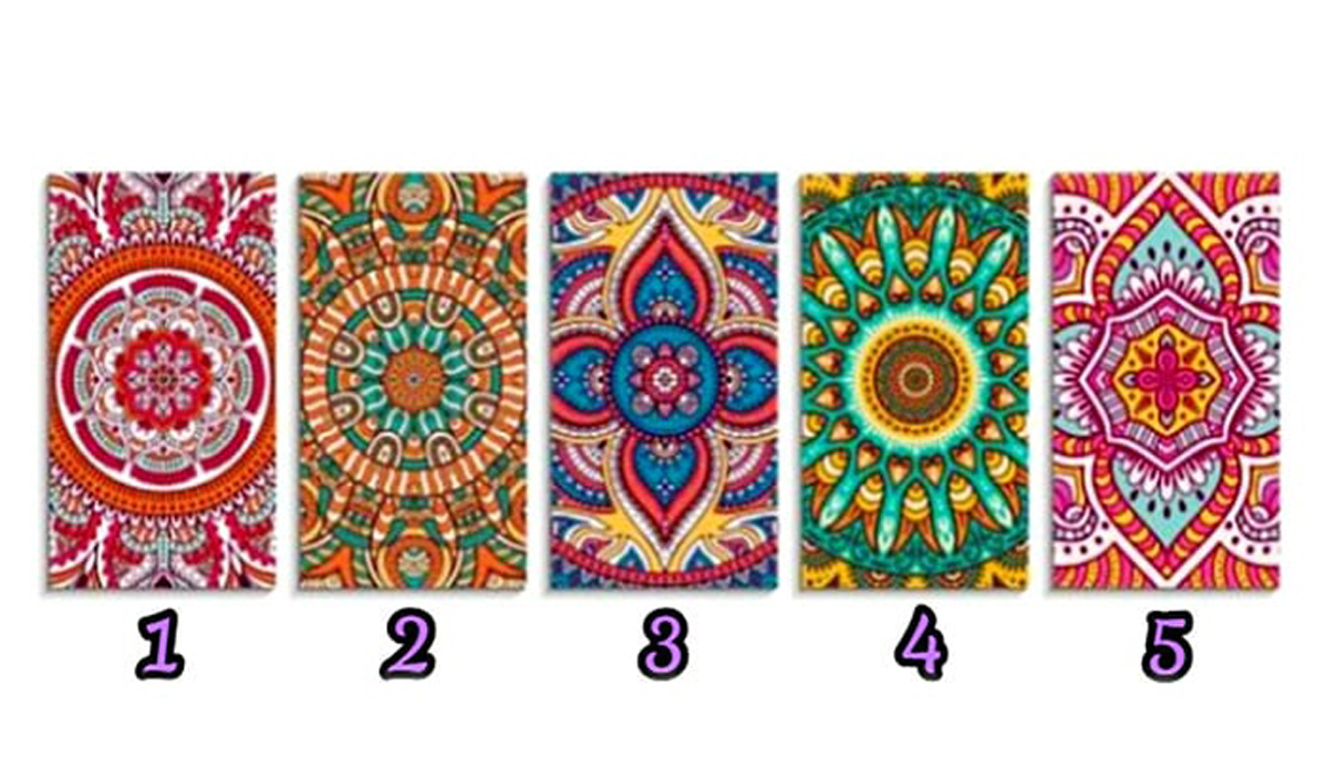 Listen to your intuition and select one mandala! It will reveal the power of your character