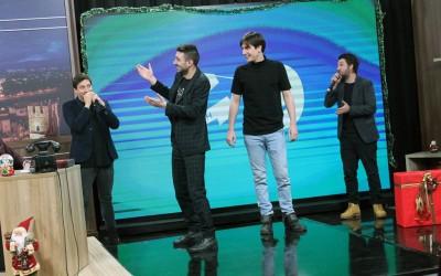 """Ќе се смеете цела вечер: Новогодишен специјал на """"Еден на Еден"""" со Тин, Марјан, Атанас и Тино (ВИДЕО)"""